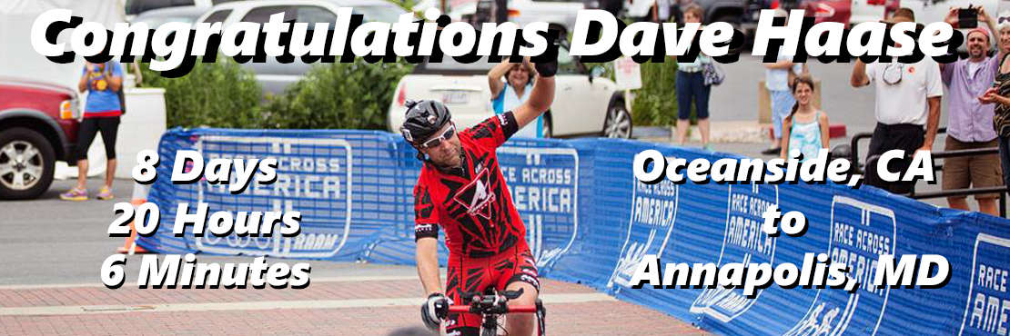 Congrats Dave on a Great RAAM 2015