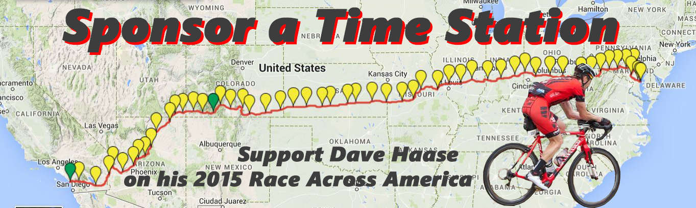 Sponsor a Tme Station for Dave Haase's RAAM 2015