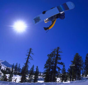 Shawn White Snowboarding Air